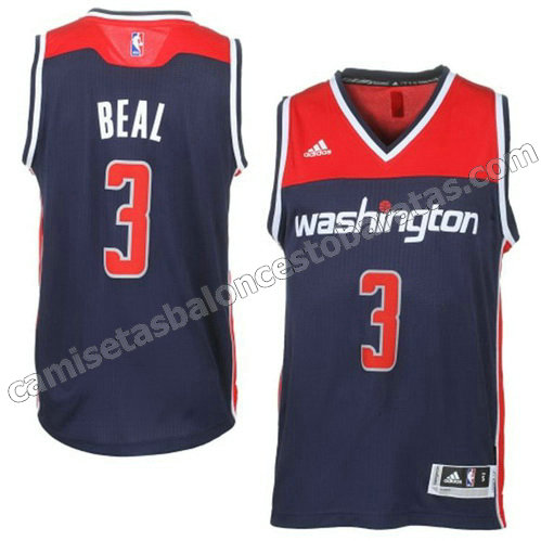 camiseta bradley beal #3 washington wizards 2014-2015 azul