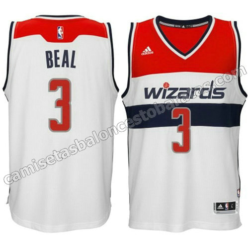 camiseta bradley beal #3 washington wizards 2014-2015 blanca