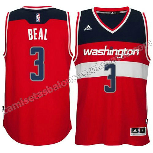 camiseta washington wizards 2014-2015 bradley beal #3 roja