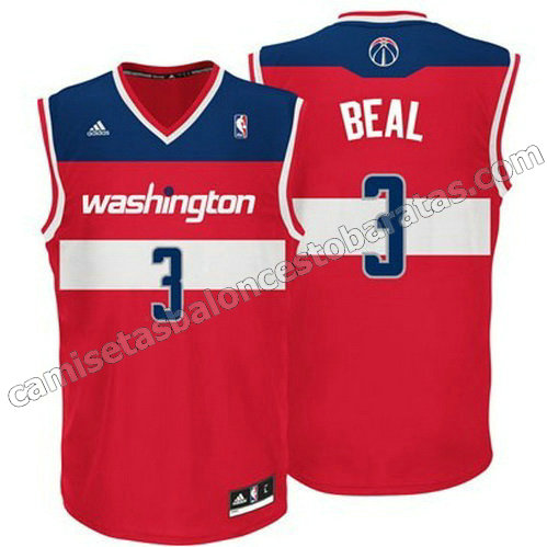 camiseta bradley beal #3 washington wizards revolucion 30 roja