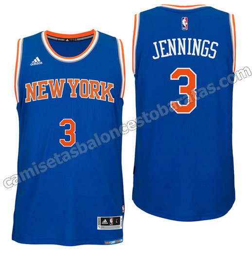 camisetas nba brandon jennings 3 new york knicks 2016 azul