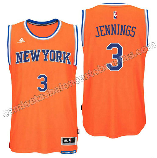 camiseta brandon jennings 3 new york knicks 2016 naranja