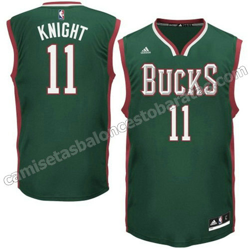 camiseta brandon knight #11 milwaukee bucks 2014-2015 verde