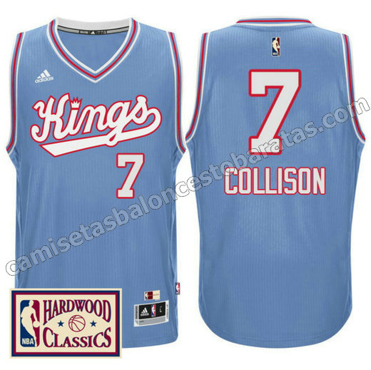 camiseta darren collison 7 sacramento kings 2016-2017 azul