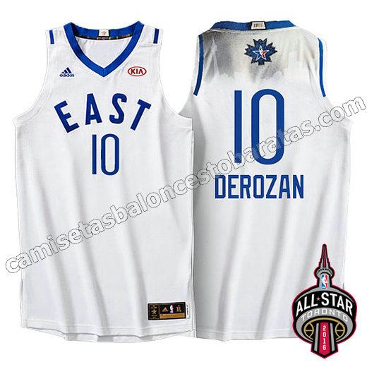 camiseta baloncesto demar DeRozan #10 nba all star 2016 blanca