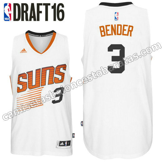 camiseta dragan bender 3 phoenix suns draft 2016 blanca