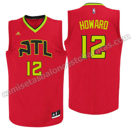 camiseta dwight howard 12 atlanta hawks 2015-2016 roja