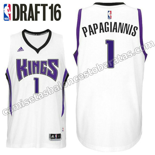 camiseta georgios papagiannis 1 sacramento kings draft 2016 blanca