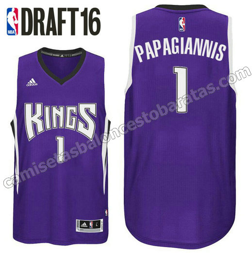camiseta georgios papagiannis 1 sacramento kings draft 2016 purpura