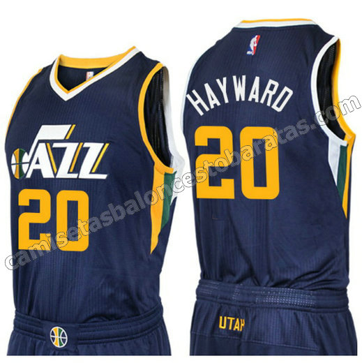 camiseta gordon hayward 20 utah jazz 2016-2017 azul