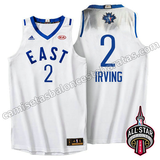 camiseta baloncesto kyrie irving #2 nba all star 2016 blanca