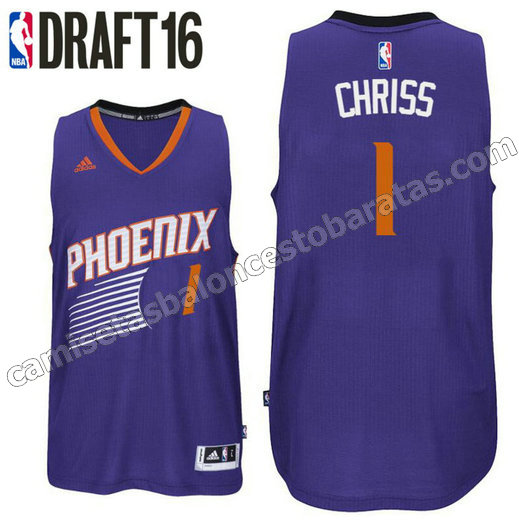 camiseta marquese chriss 1 phoenix suns draft 2016 purpura