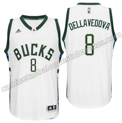 camiseta matthew dellavedova 8 milwaukee buck draft 2016 blanca