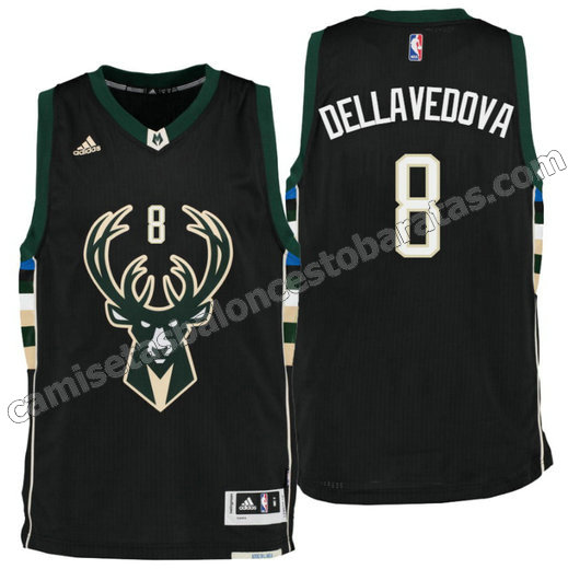camiseta matthew dellavedova 8 milwaukee buck draft 2016 negro