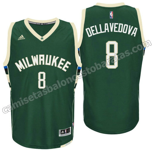camiseta matthew dellavedova 8 milwaukee buck draft 2016 verde