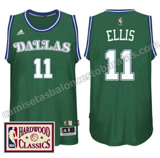camiseta monta ellis 11 dallas mavericks 2016-2017 verde