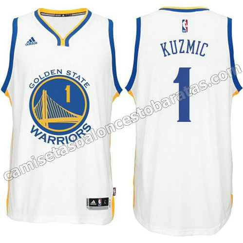 camiseta ognjen kuzmic #1 golden state warriors 2014-2015 blanca