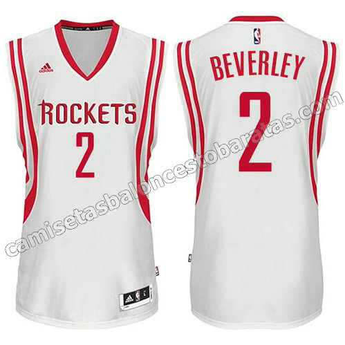 camiseta patrick beverley #2 houston rockets 2014-2015 blanca