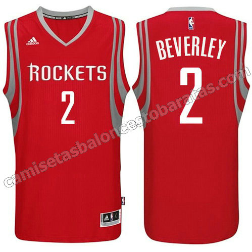 camiseta patrick beverley #2 houston rockets 2014-2015 roja