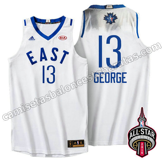 camiseta baloncesto paul george #13 nba all star 2016 blanca