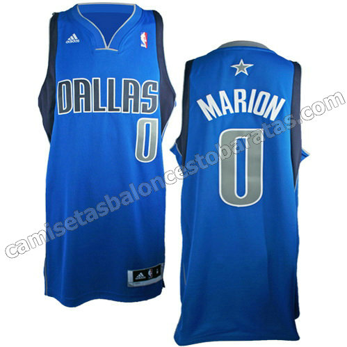 camiseta shawn marion #0 dallas mavericks revolucion 30 azul