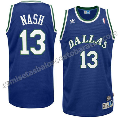 camiseta dallas mavericks con steve nash #13 swingman azul