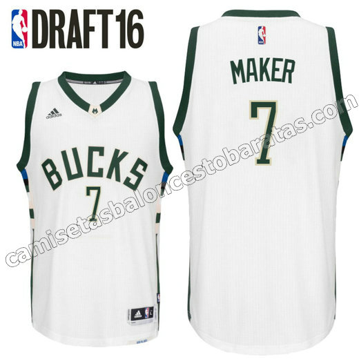 camiseta milwaukee buck draft 2016 thon maker 7 blanca