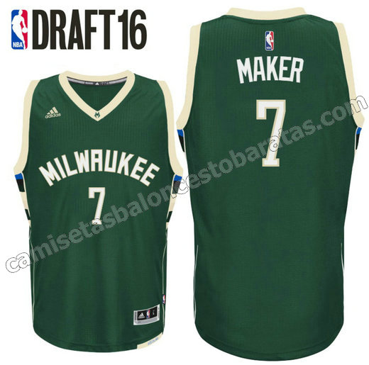 camiseta thon maker 7 milwaukee buck draft 2016 verde