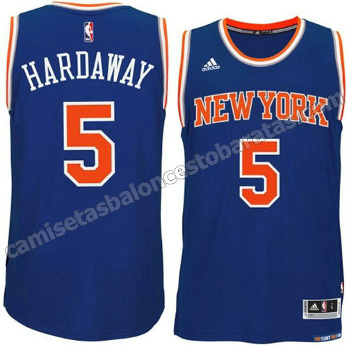camiseta tim hardaway #5 new york knicks 2015 swingman azul