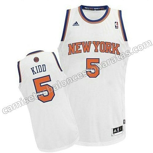 camiseta new york knicks tim hardaway #5 con rev30 blanca