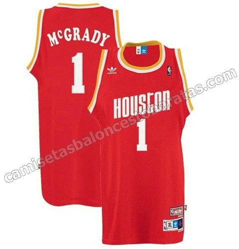camisetas nba tracy McGrady #1 houston rockets soul roja