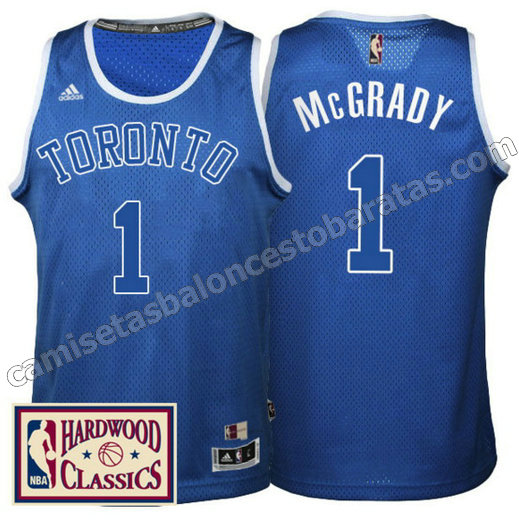 camiseta tracy McGrady 1 toronto raptors 2016-2017 azul