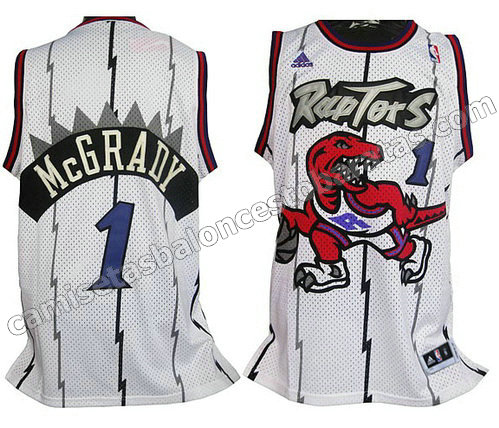 camiseta tracy McGrady #1 toronto raptors blanca