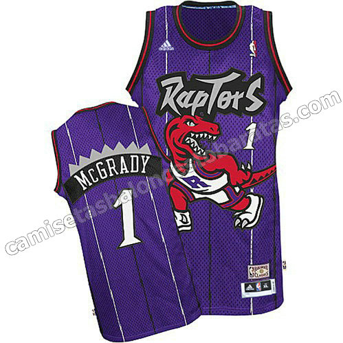 camiseta tracy McGrady #1 toronto raptors purpura