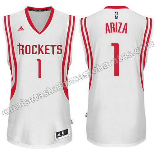 camisetas baloncesto trevor ariza #1 houston rockets blanca