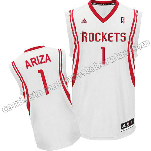 camisetas nba trevor ariza #1 houston rockets revolucion 30 blanca