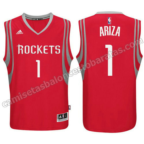 camisetas baloncesto houston rockets trevor ariza #1 roja
