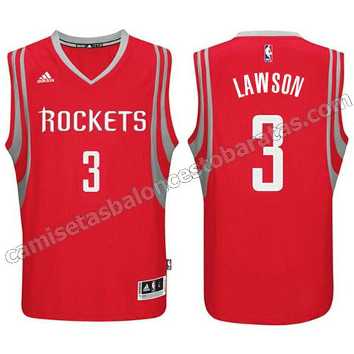 camiseta ty lawson #3 houston rockets 2014-2015 roja