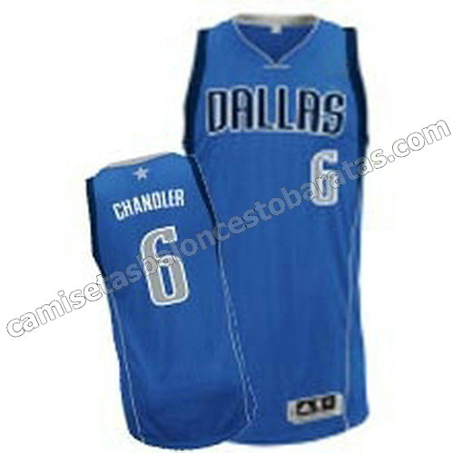 camiseta tyson chandler #6 dallas mavericks revolucion 30 azul