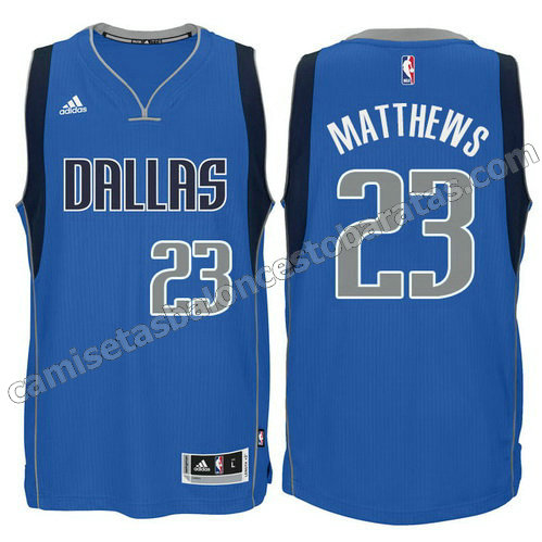 camiseta wesley matthews #23 dallas mavericks swingman azul