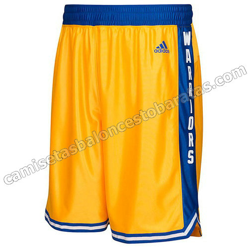 pantalones nba golden state warriors clasico amarillo