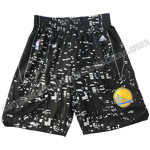 pantalones baloncesto golden state warriors luces negro