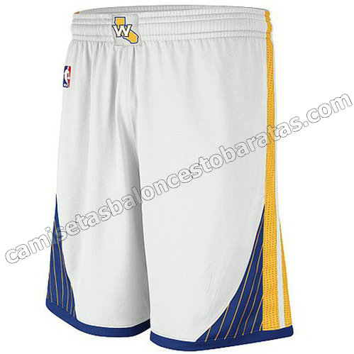 pantalones nba golden state warriors swingman blanca