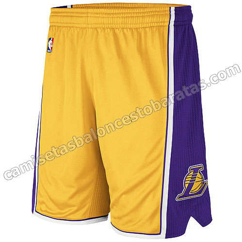 pantalones nba baratas los angeles lakers amarillo