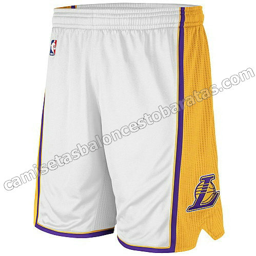 pantalones baloncesto baratas los angeles lakers blanca