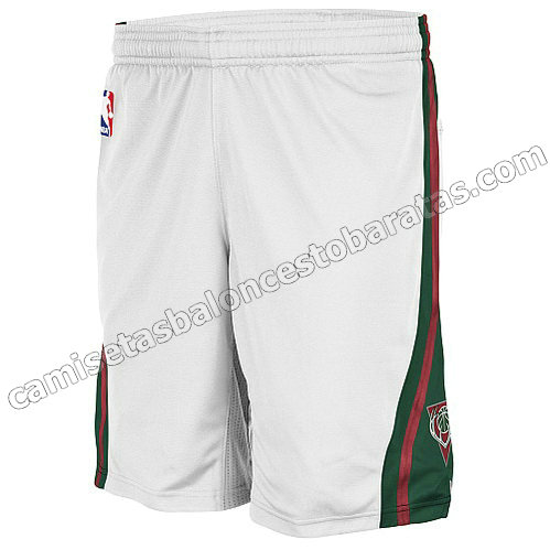 pantalones baloncesto nba baratas milwaukee bucks blanca